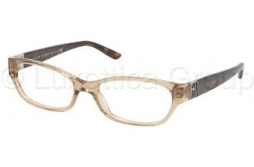Ralph Lauren RL6081 Single Vision Prescription Eyeglasses 5217-5216 - Mud Transparent Frame