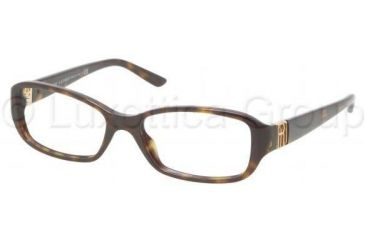 Ralph Lauren RL6085 Single Vision Prescription Eyeglasses 5003-5216 - Dark Havana Frame