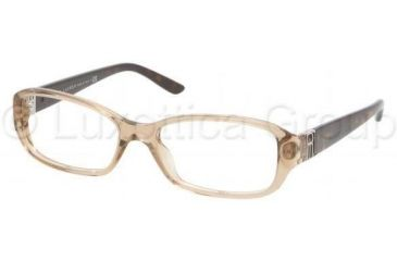 Ralph Lauren RL6085 Single Vision Prescription Eyeglasses 5217-5216 - Mud Transparent Frame