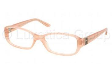 Ralph Lauren RL6085 Single Vision Prescription Eyeglasses 5333-5416 - Milky Peach Frame, Demo Lens Lenses