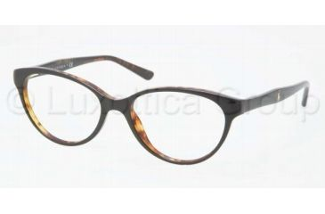Ralph Lauren RL6093 Single Vision Prescription Eyeglasses 5260-5216 - Black / Havana Frame