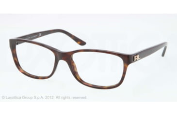 Ralph Lauren RL6101 Progressive Prescription Eyeglasses 5003-52 - Dark Havana Frame, Demo Lens Lenses