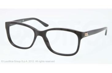 Ralph Lauren RL6102 Progressive Prescription Eyeglasses 5001-51 - Black Frame, Demo Lens Lenses