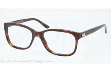 Ralph Lauren RL6102 Progressive Prescription Eyeglasses 5003-51 - Dark Havana Frame, Demo Lens Lenses