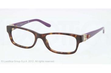 Ralph Lauren RL6106Q Progressive Prescription Eyeglasses 5003-51 - Dark Havana Frame, Demo Lens Lenses