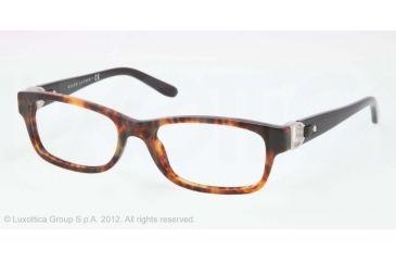 Ralph Lauren RL6106Q Progressive Prescription Eyeglasses 5017-51 - Havana Jl Frame, Demo Lens Lenses
