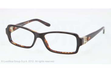 Ralph Lauren RL6107Q Single Vision Prescription Eyeglasses 5260-53 - Black/Havana Frame, Demo Lens Lenses
