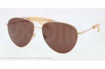 Ralph Lauren RL7044 Progressive Prescription Sunglasses RL7044-911673-59 - Lens Diameter 59 mm, Lens Diameter 59 mm, Frame Color Shiny Pale Gold