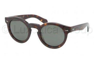 Ralph Lauren RL8071W Sunglasses 500352-4623 - Dark Toroise Frame, Crystal Green Lenses