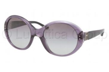 Ralph Lauren RL8084 Sunglasses 52428G-5521 - Transparent/Violet Frame, Gray Gradient Lenses