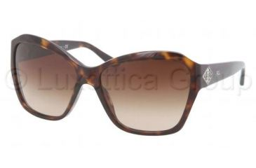 Ralph Lauren RL8095B Sunglasses 500313-5815 - Dark Havana Frame, Brown Gradient Lenses
