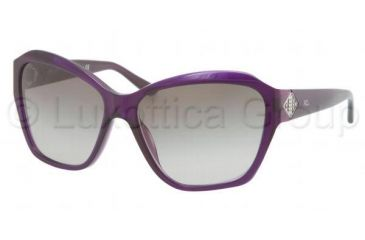 Ralph Lauren RL8095B Sunglasses 53948G-5815 - Transparent Violet Frame, Gradient Gray Lenses