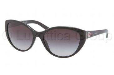 Ralph Lauren RL8098 Single Vision Prescription Sunglasses RL8098-50018G-5817 - Frame Color Black, Lens Diameter 58 mm