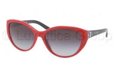 Ralph Lauren RL8098 Sunglasses 53108G-5817 - Red Black Frame, Gray Gradient Lenses