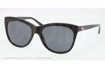 Ralph Lauren RL8105 Sunglasses 500187-56 - Black Frame, Gray Lenses
