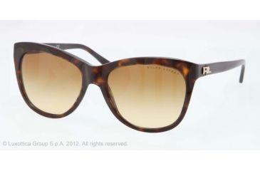 Ralph Lauren RL8105 Sunglasses 50032L-56 - Dark Havana Frame, Brown Gradient Lenses