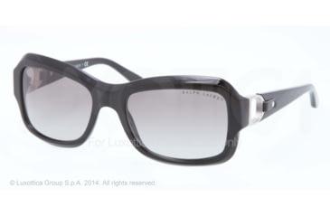 Ralph Lauren RL8107Q Sunglasses 500111-55 - Black Frame, Gray Gradient Lenses