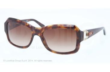 Ralph Lauren RL8107Q Sunglasses 500313-55 - Dark Havana Frame, Brown Gradient Lenses