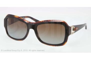 Ralph Lauren RL8107Q Sunglasses 5260T5-55 - Top Black/Havana Frame, gradient brown polar Lenses