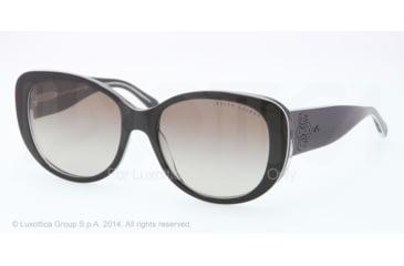 Ralph Lauren RL8114 Sunglasses 54488E-56 - Black/white/trasparent Frame, Gradient Green Lenses