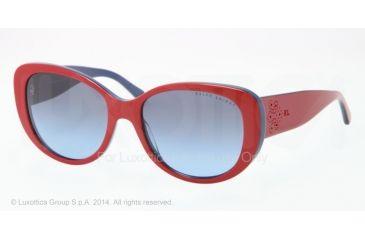 Ralph Lauren RL8114 Sunglasses 54508F-56 - Top Red/blue Frame, Blue Gradient Grey Lenses