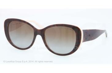 Ralph Lauren RL8114 Sunglasses 5451T5-56 - Top Dark Havana/cream Frame, Gradient Brown Polar Lenses