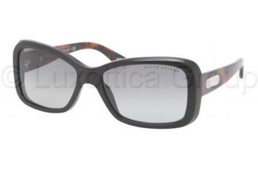 Ralph Lauren Bifocal Sunglasses RL8066 with Lined Bi-Focal Rx Prescription Lenses RL8066-525811-5516 - Lens Diameter: 55 mm, Frame Color: Black