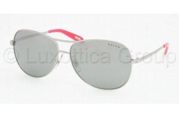 Ralph RA 4069 Sunglasses Styles - Light Silver Gray Silver Mirror Frame, 102-6G-5813