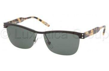 Ralph RA 4070 Sunglasses Styles - Black Frame / Green Solid Lenses, 107-71-5613