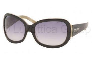 Ralph RA5013 Single Vision Prescription Sunglasses RA5013-520-11-5818 - Lens Diameter 58 mm, Frame Color Black / Ivory Horn
