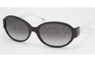 261ff18f5a Ralph RA 5046 Sunglasses Styles Black White Crystal Frame   Gray Gradient  Lenses