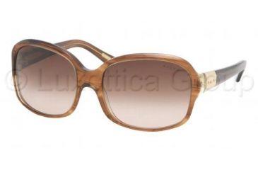 Ralph RA5059 Single Vision Prescription Sunglasses RA5059-668-13-5817 - Lens Diameter 58 mm, Frame Color Amber