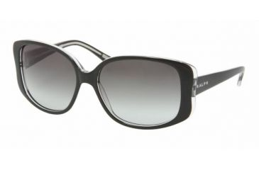 Ralph RA 5102 Sunglasses Styles Black/Crystal Frame / Gray Gradient Lenses, 541-11-5615, Ralph RA 5102 Sunglasses Styles Black/Crystal Frame / Gray Gradient Lenses