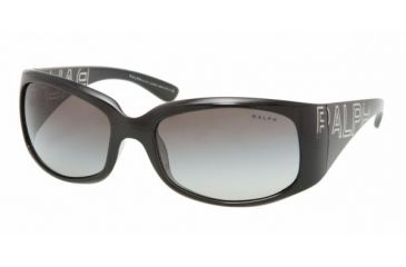 Ralph RA 5104 Sunglasses Styles Black/Crystal Frame / Gray Gradient Lenses, 541-11-5918