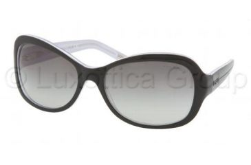 Ralph RA5109 SV Prescription Sunglasses, Black/White/Crystal Frame / 61 mm Prescription Lenses, 550 11 6118