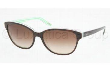 Ralph RA5128 RA5128 Sunglasses 976/13-5515 - Dark Tortoise/Green Stripes Brown Gradient