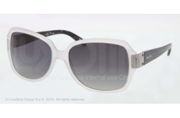 Ralph RA5138 Sunglasses 823/T3-58 - White Frame, Grey Gradient Polarized Lenses