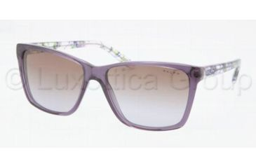 Ralph RA5141 Sunglasses 107068-5715 - Crocus Brown Frame, Gradient Violet Lenses