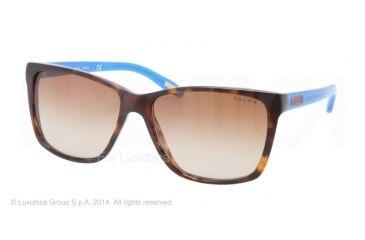 Ralph RA5141 Sunglasses 125513-57 - Tortoise Blue Frame, Brown Gradient Lenses