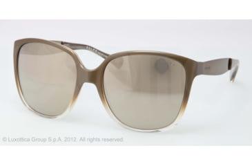 Ralph RA5173 Sunglasses 121028-55 - Gold Crystal Frame, gold flash Lenses