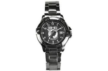 Ram Instrument Military Watch, Gun Metal Finish, POW-MIA with Date V1D04-G