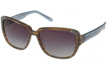 Randees Kandees  5 Sunglasses - Olive Brown-Blue Frame, Grey Gradient Lenses  57-15-135 RK5-502