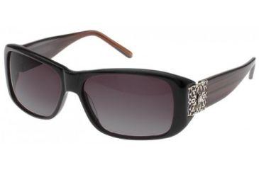 Randees Kandees 8 Single Vision Rx Sunglasses - Black-Brown Striated Frame, Black-Brown Striated, 58-14-130 RK8-803RX