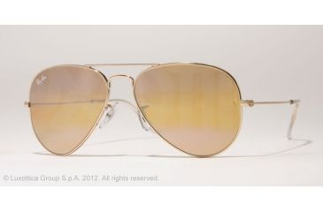 Ray-Ban Aviator Large Metal Bifocal Sunglasses RB3025 with Lined Bi-Focal Rx Prescription Lenses RB3025-001-4F-55 -