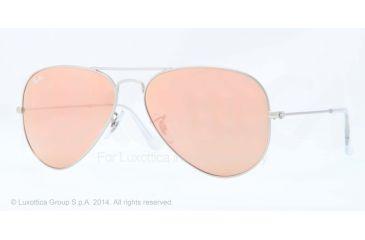 Ray-Ban Aviator Large Metal Prescription Sunglasses RB3025 RB3025-019-Z2-55 - Lens Diameter 55 mm, Frame Color Matte Silver