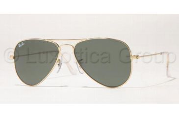 Ray-Ban Aviator Small Metal Sunglasses RB3044 L0207-5214 - Arista Crystal Frame, Green Lenses