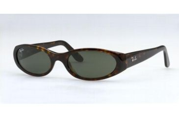 Ray-Ban Sunglasses Casual Lifestyle RB2128-901-5118 51 mm Lense Diameter / Black Frame w/ Crystal Green Lenses