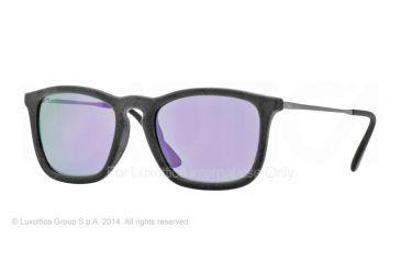 Ray-Ban CHRIS RB4187 Progressive Prescription Sunglasses RB4187-60774V-54 - Lens Diameter 54 mm, Frame Color Flock Grey