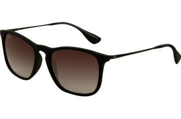Ray-Ban CHRIS RB4187 Progressive Prescription Sunglasses RB4187-622-8G-5418 - Lens Diameter 54 mm, Frame Color Black Rubber