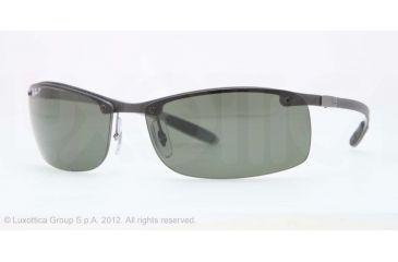 Ray-Ban RB8305 Progressive Prescription Sunglasses RB8305-141-9A-63 - Lens Diameter 63 mm, Frame Color Light Carbon